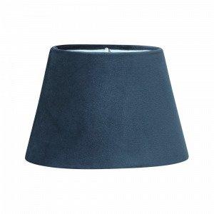 Pr Home Lampunvarjostin Soikea Samettia Sininen 25 Cm