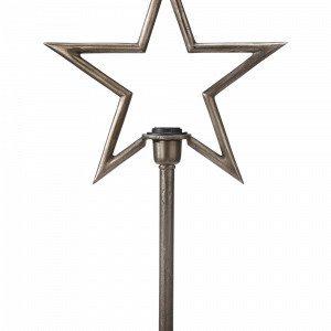 Pr Home Raw Star Kynttilänjalka Hopea
