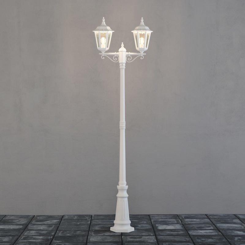 Pylväsvalaisin 7234-250 Firenze valkoinen 2-haarainen 2200 mm