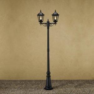 Pylväsvalaisin 7234-750 Firenze musta 2-haarainen 2200 mm