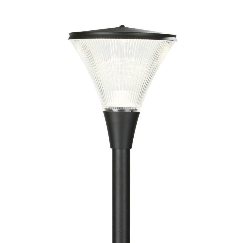 Pylväsvalaisin Luxe LED Ø 300x344 mm musta + pylväs 1