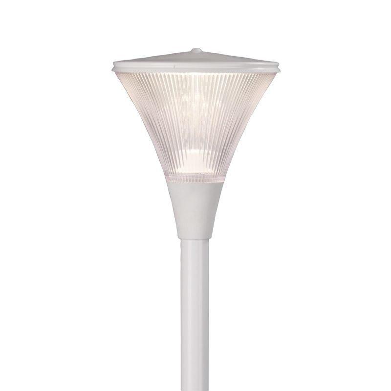Pylväsvalaisin Luxe LED Ø 300x344 mm valkoinen + pylväs 1