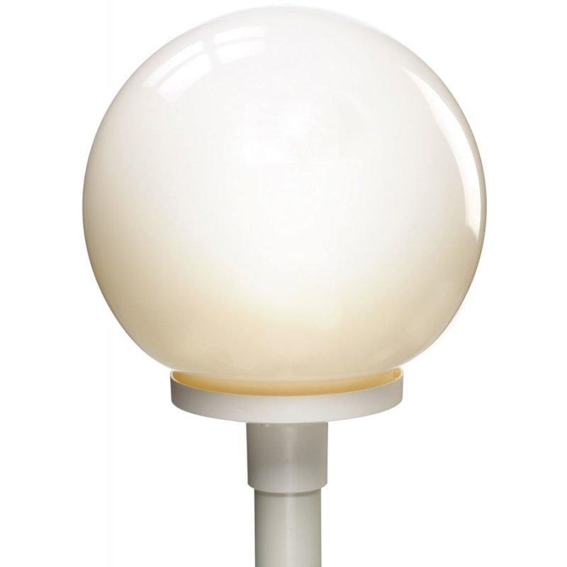 Pylväsvalaisin Opaalipallo Ø 300x366 mm opaali/valkoinen + pylväs 1