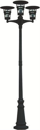 Pylväsvalaisin Torekov 2110 mm 3-osainen musta