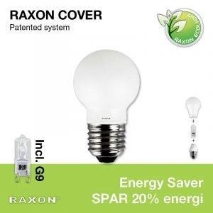 Raxon Lamppu 33w Globe Cover Ø45 Mainoslamppu E27