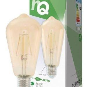 Retromallinen LED-filamenttilamppu E27 4 wattia 345 luumenia 2 700 kelviniä