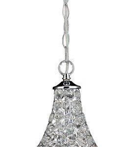 Riippuvalaisin Jewel Ø 260x420 mm kromi/Brilliant-kristalli