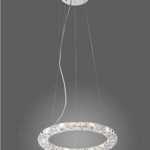 Riippuvalaisin Paul Neuhaus Jola LED 24x1W 230V IP20 Ø 470mm kromi/kristalli