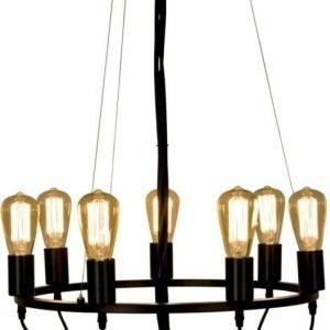 Riippuvalaisin Scan Lamps Sirka Ø 570x320 mm 7-osainen musta