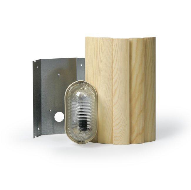 Saunavalaisin AVH15.2 40W E14 330x223x175 mm vaalea mänty kulma-asennus
