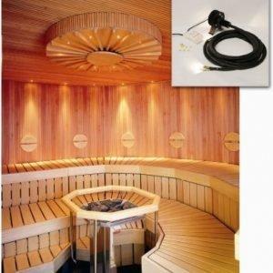 Saunavalaistussarja VPL20-N221 5-10 m² LED-projektori + 21 valokuitua