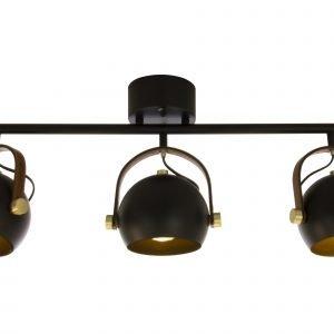 Scan Lamps Bow Kattospotti Musta 3-Osainen