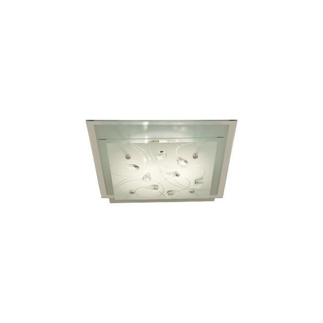 Scan Lamps Demi kattoplafondi neliskulmainen lasi