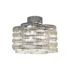 Scan Lamps Elektra Kristalliplafondi Kromi / Kirkas K5 Kristallit