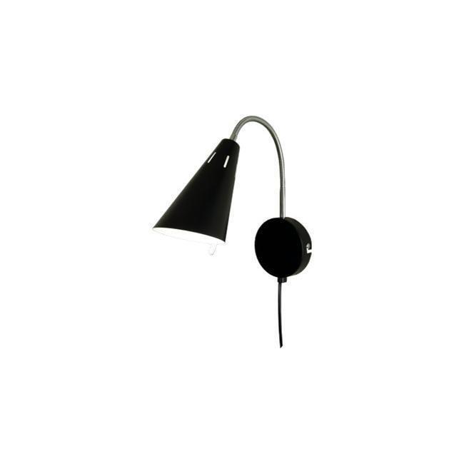 Scan Lamps Eva seinävalaisin musta/kromi