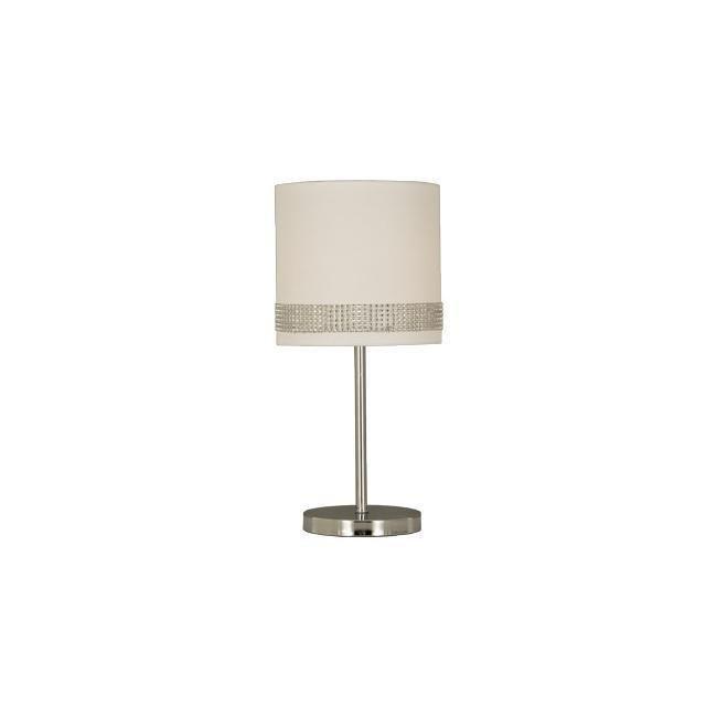 Scan Lamps Lady pöytävalaisin kromi/valkoinen