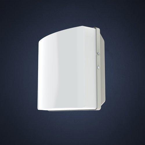 Seinä-/numerovalaisin Duo 810.000 IP44 I-75-E27 240x136x240 mm valkoinen