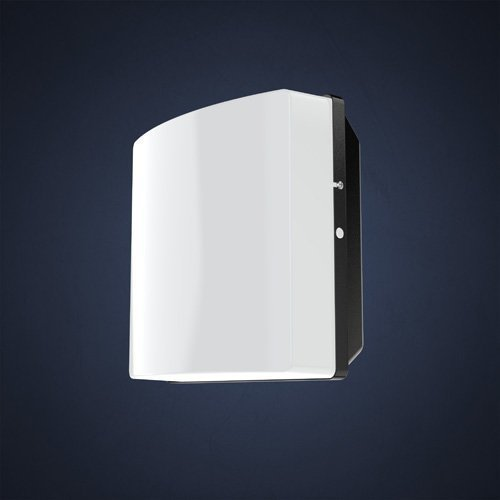 Seinä-/numerovalaisin Duo 810.100 IP44 I-75-E27 240x136x240 mm musta