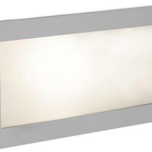 Seinä/muurivalaisin Zimba 243x101x5 mm upotettava hopea/valkoinen
