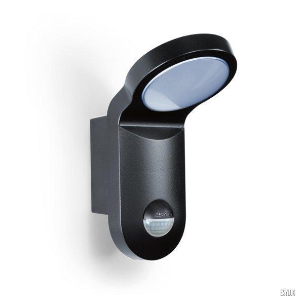 Seinävalaisin AOL 100 LED 5K 103.5x143x205 mm liiketunnistimella musta