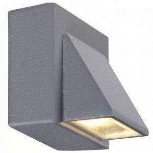 Seinävalaisin Carina 80x80 mm LED alasvalo hopeanharmaa IP44