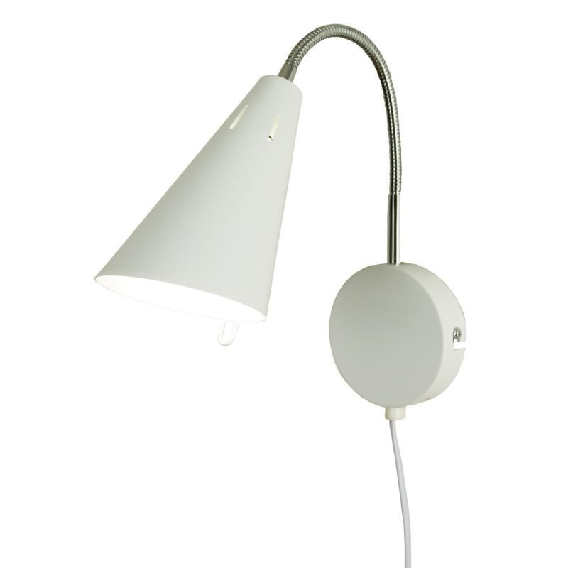 Seinävalaisin Eva 100x290x250 mm valkoinen/kromi