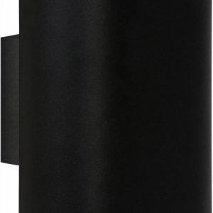 Seinävalaisin Lucide Ovalis 2x9W 230V IP20 musta