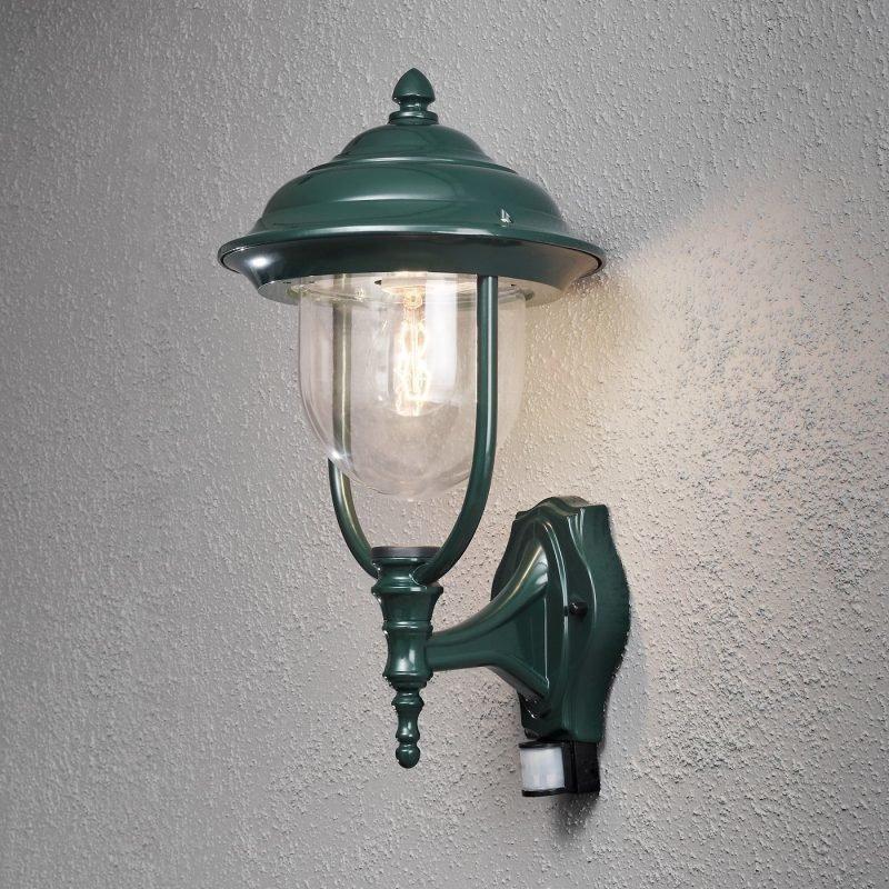Seinävalaisin Parma 7235-600 240x290x480 mm yläsuunta liiketunnistimella vihreä