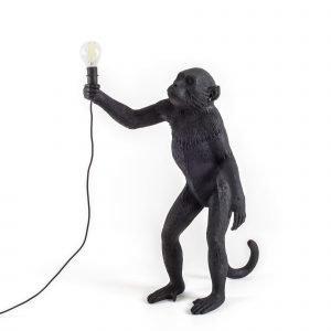 Seletti Apina Pöytävalaisin Ulkokäyttöön Musta