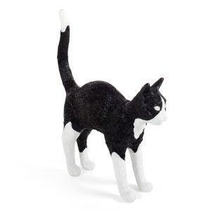 Seletti Jobby The Cat Valaisin Led Musta / Valkoinen