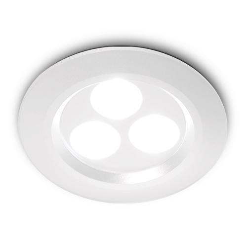 Sessak Upotettava LED-alasvalo 3-os (valkoinen)