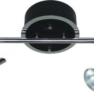 Spottivalaisin FocusLight Modus 2x50W 230V IP20 musta/kromi