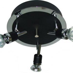 Spottivalaisin FocusLight Modus 3x50W 230V IP20 Ø 240mm musta/kromi