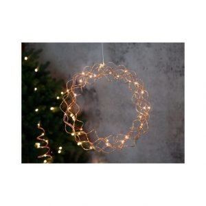 Star Curly Wreath Valokranssi Ø 30 Cm