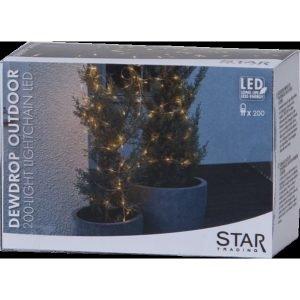 Star Dew Drop Outdoor Ulkovalosarja Hopea 200-Osainen