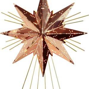 Star Mini Luxe Metallitähti Kupari