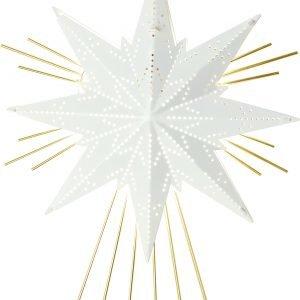 Star Mini Luxe Metallitähti Valkoinen