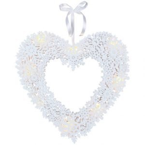 Star Snowflake Heart Led Valokranssi 44 Cm