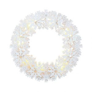 Star Snowflake Wreath Led Valokranssi 33 Cm
