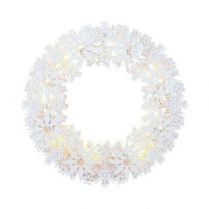 Star Snowflake Wreath Led Valokranssi 33 Cm