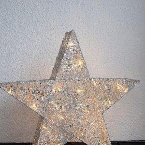 Star Trading Led Valotähti Koristeellinen Hopea 70 Cm