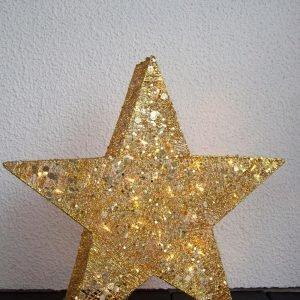 Star Trading Led Valotähti Koristeellinen Kulta 70 Cm