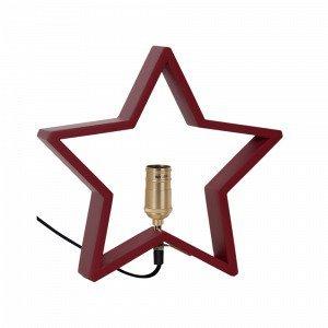 Star Trading Lysekil Pöytätähti E14 Punainen