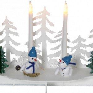 Star Trading Snowy Valokynttelikkö Valkoinen