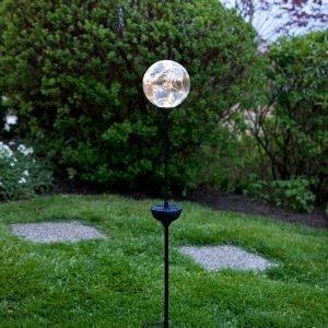 Star Trading Sol Glas Kula 30 Led Aurinkokennovalaisin Hopea