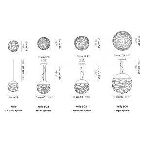 Studio Italia Design Kelly So3 Medium Sphere Riippuvalaisin Kupari / Pronssi