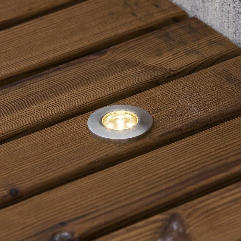Terassivalaisinsarja 7639-000 LED-spotti 6 kpl + muuntaja