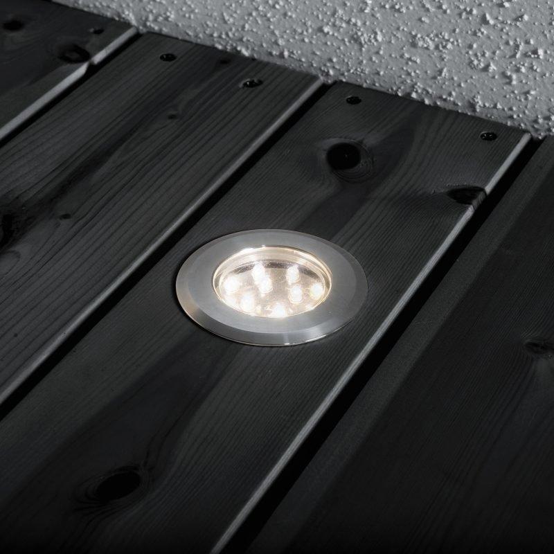 Terassivalaisinsarja 7654-000 LED-spotti 3 kpl + muuntaja