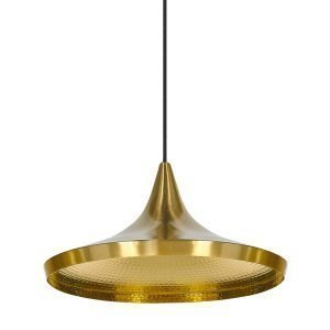 Tom Dixon Beat Light Wide Valaisin Messinki