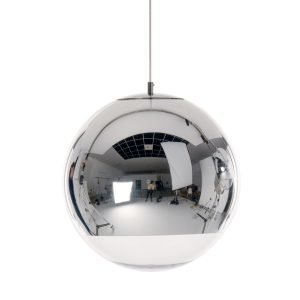 Tom Dixon Mirror Ball Kattovalaisin Kromi 40 Cm